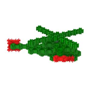Сборная игрушка Вертолётик детского трёжмерного конструктора Фанкластик
