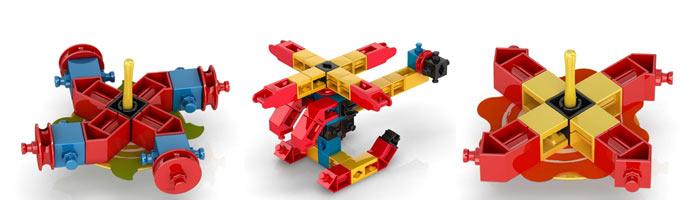 Модели Engino из наборов серии Pico Spinners для детей от 5 лет