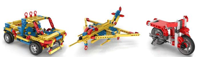 Модели Engino из наборов серии Inventor для детей от 6 лет