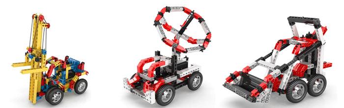 Модели Engino из наборов серии Inventor Motorized для детей от 6 лет