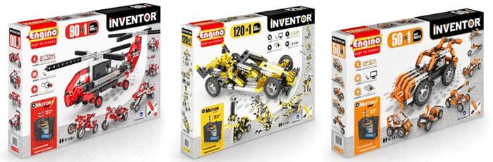 Коробки наборов Engino серии Inventor Motorized. 2016 год