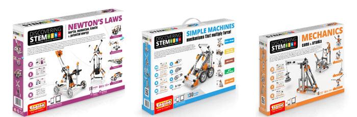 Коробки наборов Engino серии Discovering STEM 2016 года