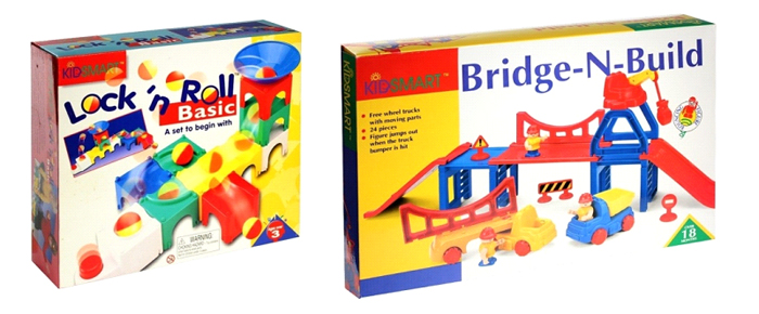 Наборы конструктора Kidsmart серий Bridge-n-built и Lock`n Roll