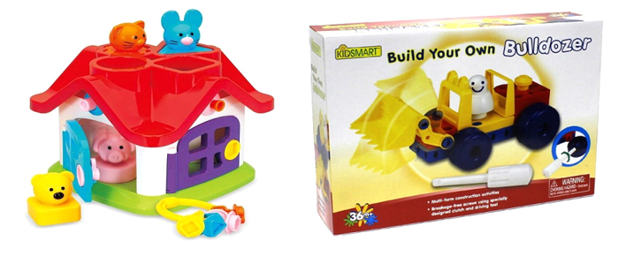 Модели Kidsmart из наборов Construction Set