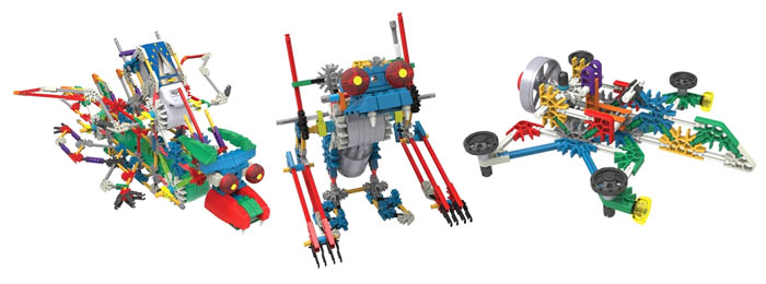 Модели из наборов  K'NEX Building Sets: Cosmic Quest и RoboSmash