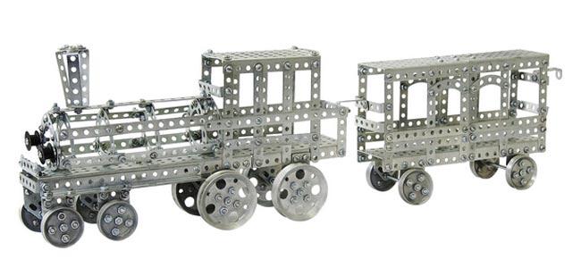 Паровоз и вагон из набора «Железная дорога» серии «Как раньше»
