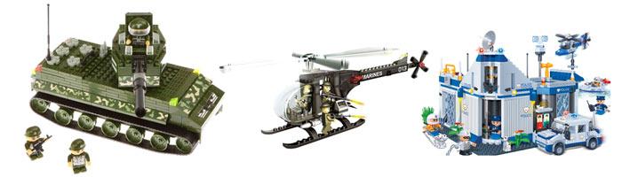 Модели из наборов BanBao