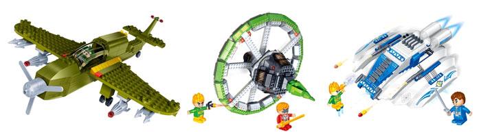 Модели из наборов BanBao военно-космической тематики