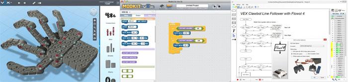 Графические оболочки программ для роботов VEX